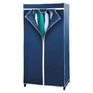 Modrá skladacia látková šatníková skriňa Wenko Air vyobraziť