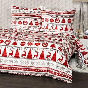4Home obliečky mikroflanel Christmas Time červená, 140 x 200 cm, 70 x 90 cm vyobraziť