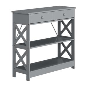 Konzolový stolík, sivá, LOMIR vyobraziť