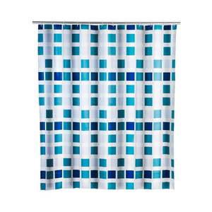 Modrý sprchový záves Wenko Mosaic, 180 × 200 cm vyobraziť