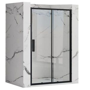 REA - Posuvné sprchové dvere Rapid Slide 140 čierna REA-K6404 vyobraziť
