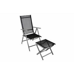 Hliníková skladacia stolička s podnožkou vyobraziť