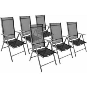 Záhradná sada - 6 sklápajúcich stoličiek GARTHEN - čierna vyobraziť